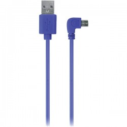 iEssentials - IE-90DMICRO-BL - iEssentials(R) IE-90DMICRO-BL 90? Micro USB Cable, 3.5ft (Blue)