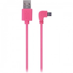 iEssentials - IE-90DMICRO-PK - iEssentials(R) IE-90DMICRO-PK 90? Micro USB Cable, 3.5ft (Pink)