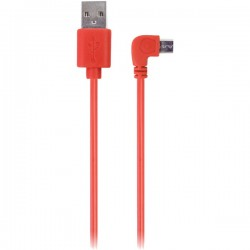 iEssentials - IE-90DMICRO-RD - iEssentials(R) IE-90DMICRO-RD 90? Micro USB Cable, 3.5ft (Red)