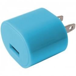 iEssentials - IE-AC1USB-BLU - iEssentials(R) IE-AC1USB-BLU 1-Amp USB Wall Charger (Blue)