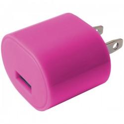iEssentials - IE-AC1USB-PK - iEssentials(R) IE-AC1USB-PK 1-Amp USB Wall Charger (Pink)