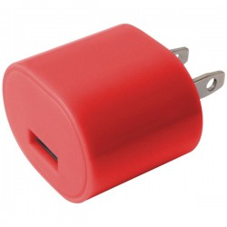 iEssentials - IE-AC1USB-RD - iEssentials(R) IE-AC1USB-RD 1-Amp USB Wall Charger (Red)