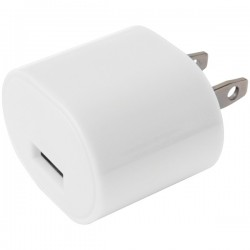 iEssentials - IE-AC1USB-WT - iEssentials(R) IE-AC1USB-WT 1-Amp USB Wall Charger (White)