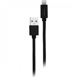 iEssentials - IE-BC10IP5-BK - iEssentials(R) IE-BC10IP5-BK Braided USB Cable with Lightning(R) Connector, 10ft (Black)