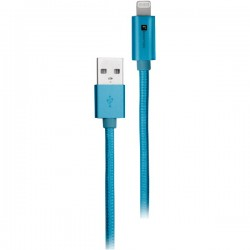 iEssentials - IE-BC10IP5-BL - iEssentials(R) IE-BC10IP5-BL Braided USB Cable with Lightning(R) Connector, 10ft (Blue)