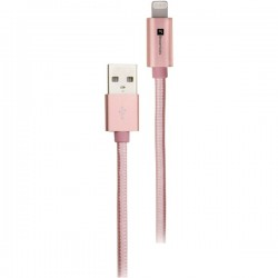iEssentials - IE-BC10IP5-RGLD - iEssentials(R) IE-BC10IP5-RGLD Braided USB Cable with Lightning(R) Connector, 10ft (Rose Gold)