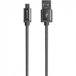 iEssentials - IE-BC10MICRO-BK - iEssentials(R) IE-BC10MICRO-BK Braided Micro USB Charge & Sync Cable, 10ft (Black)