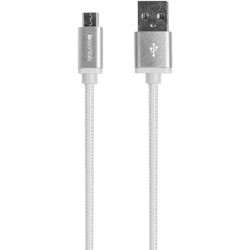 iEssentials - IE-BC10MICRO-WT - iEssentials(R) IE-BC10MICRO-WT Braided Micro USB Charge & Sync Cable, 10ft (White)