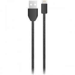 iEssentials - IE-BC6IP5-BK - iEssentials(R) IE-BC6IP5-BK Charge & Sync USB Cable with Lightning(R) Connector, 6ft (Black)