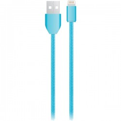 iEssentials - IE-BC6IP5-BL - iEssentials(R) IE-BC6IP5-BL Charge & Sync USB Cable with Lightning(R) Connector, 6ft (Blue)