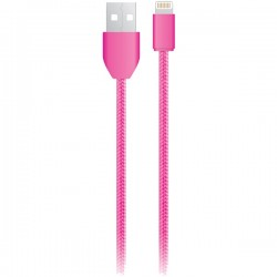 iEssentials - IE-BC6IP5-PK - iEssentials(R) IE-BC6IP5-PK Charge & Sync USB Cable with Lightning(R) Connector, 6ft (Pink)