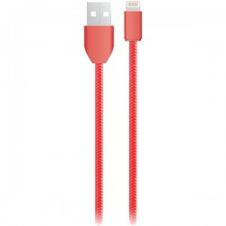 iEssentials - IE-BC6IP5-RD - iEssentials(R) IE-BC6IP5-RD Charge & Sync USB Cable with Lightning(R) Connector, 6ft (Red)