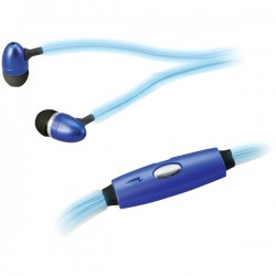 iLive - IAEL65BU - iLive iAEL65BU Glowing Earbuds with Microphone (Blue)