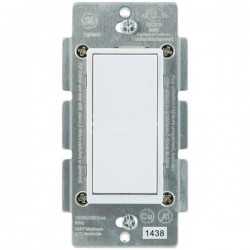 GE (General Electric) - 12723 - GE Z-Wave Hard Wire Switch - Paddle Switch - Light Control, Fan Control - White