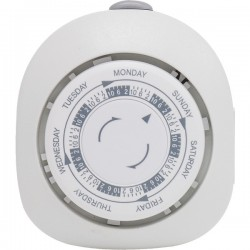 GE (General Electric) - 15151 - GE(R) 15151 7-Day Mechanical Polarized 1-Outlet Plug-in Timer