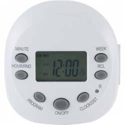 GE (General Electric) - 15154 - GE(R) 15154 7-Day Random On/off 1-Outlet Plug-in Digital Timer