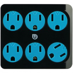 Uber Collection - 25112 - Uber(TM) 25112 6-Outlet Power Tap (Black & Blue)