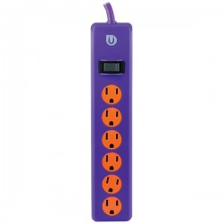 Uber Collection - 25116 - Uber(TM) 25116 6-Outlet Power Strip (Purple & Orange)