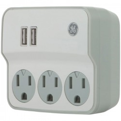 GE (General Electric) - 32193 - GE(R) 32193 3-Outlet Current Wall Tap with USB Port