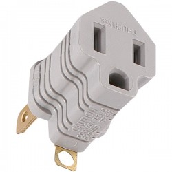 GE (General Electric) - 58900 - GE(R) 58900 Polarized Grounding Adapter Plug (Gray)