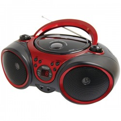 Jensen - CD490 - Jensen Cd490 Black/red Portable Stereo Cd Player With Am F