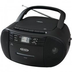 Jensen - CD545 - Jensen Cd545 Black Portable Stereo Cd Player With Cassette
