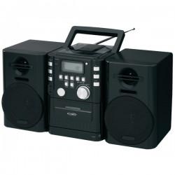 Jensen - CD-725 - JENSEN(R) CD-725 Portable CD Music System with Cassette & FM Stereo Radio