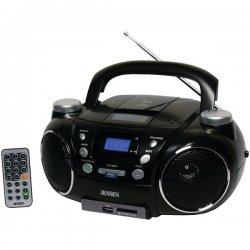 Jensen - CD750 - Jensen Cd750 Black Portable Cd Player Am Fm Radio Digital