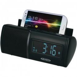 Jensen - JBD100A - Jensen Jbd100a Black Clock Radio Bluetooth With Usb Chargiing