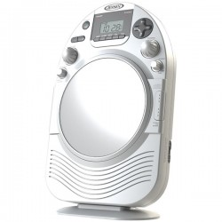 Jensen - JCR-525 - JENSEN(R) JCR-525 AM/FM Stereo Shower Radio with CD