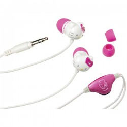 Hello Kitty - KT2084 - Hello Kitty(R) KT2084 Earbuds with In-Line Volume Control