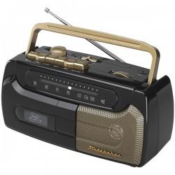 Studebaker - SB2127BG - Studebaker(R) SB2127BG Portable Cassette Player & Recorder with FM Radio