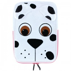 Tabzoo - TZ431PD - TABZOO TZ431PD 8 Plush Universal Dog Tablet Sleeve