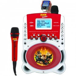 "Emerson - HD515A - Emerson Hd515a Alvinizer! Alvin & The Chipmunks Karaoke Mp3 Lyric Player With 3.5"" Lyric Screen, Usb & 250 Songs"