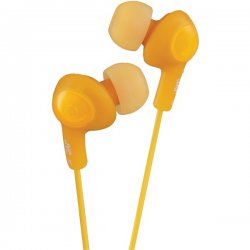 JVC - HAFX5D - JVC Gumy Plus HA-FX5-D Earphone - Stereo - Orange - Mini-phone - Wired - 16 Ohm - 10 Hz 20 kHz - Gold Plated - Earbud - Binaural - Open - 3.28 ft Cable