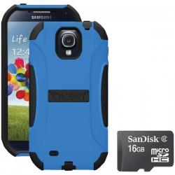 Trident Case - 815825015814 - Trident S4 Aegis Case Blue With Sandisk Micro Sd 16gb
