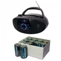 Jensen - 815906024049 - Jensen Cd-560 Portable Stereo Cd Player With Bluetooth & Kinetik 24 Pk C