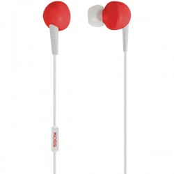 Koss - 181058 - Koss Earphone - Stereo - Red - Mini-phone - Wired - Earbud - Binaural - In-ear - 4 ft Cable