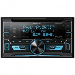 Kenwood - DPX302U - KENWOOD(R) DPX302U Double-DIN In-Dash CD Receiver, SiriusXM(R) Ready