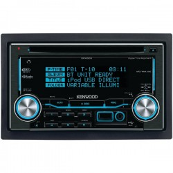 Kenwood - DPX530BT - KENWOOD(R) DPX530BT Double-DIN AAC/WMA/WAV/MP3 AM/FM/CD Receiver with Bluetooth(R) & SiriusXM(R) Ready