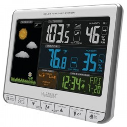 La Crosse Technologies - 308-1412S - Color Weather Station With Usb Color Wrls Weather Station With Usb