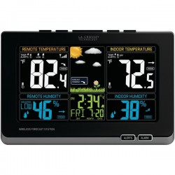 La Crosse Technologies - 308-1414MB - La Crosse Technology(R) 308-1414MB Wireless Weather Station with Color LCD