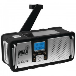 La Crosse Technologies - 810-106 - La Crosse Technology AM/FM/WB NOAA Weather Radio with Hand Crank and LED Flashlight - FM, AM - 7 Weather - Handheld