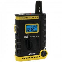 La Crosse Technologies - 810-805 - La Crosse Technology Handheld AM/FM/Weather Band NOAA Weather Radio - AM, FM - 7 Weather - Handheld