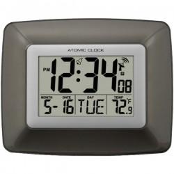 La Crosse Technologies - WS-8008U - La Crosse Technology(R) WS-8008U Atomic Digital Wall Clock with Indoor Temperature