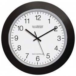 La Crosse Technologies - WT-3129B - La Crosse Technology(R) WT-3129B 12 Black Atomic Wall Clock