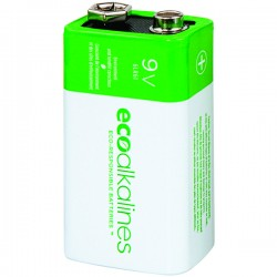 Eco Alkalines / Lei Electronics - ECO9V12A - EcoAlkalines(TM) ECO9V12A 9-Volt EcoAlkaline(TM) Battery (12 pk)