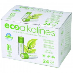 Eco Alkalines / Lei Electronics - ECOAAA24A - EcoAlkalines(TM) ECOAAA24A AAA EcoAlkaline(TM) Batteries (24 pk)
