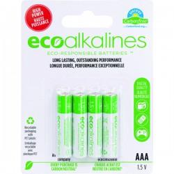 Eco Alkalines / Lei Electronics - ECOAAA4A - EcoAlkalines(TM) ECOAAA4A AAA EcoAlkaline(TM) Batteries (4 pk)