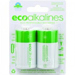 Eco Alkalines / Lei Electronics - ECOD2A - EcoAlkalines(TM) ECOD2A D EcoAlkaline(TM) Batteries (2 pk)